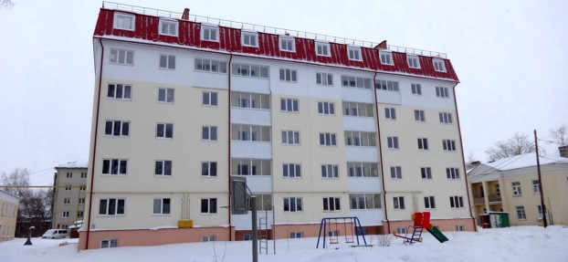 5-storey residential building with attic
